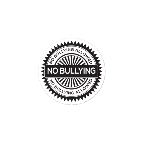 No Bullying Bubble-free stickers for schools, school counselors, teachers and administrators - The School Counselor Shop  Great gifts and items for school and guidance counselors. School Counseling, Counseling, School Shirts, Counseling Apparel