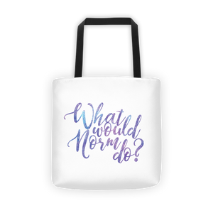 What would Norm do? - Tote bag - The School Counselor Shop  Great gifts and items for school and guidance counselors. School Counseling, Counseling, School Shirts, Counseling Apparel
