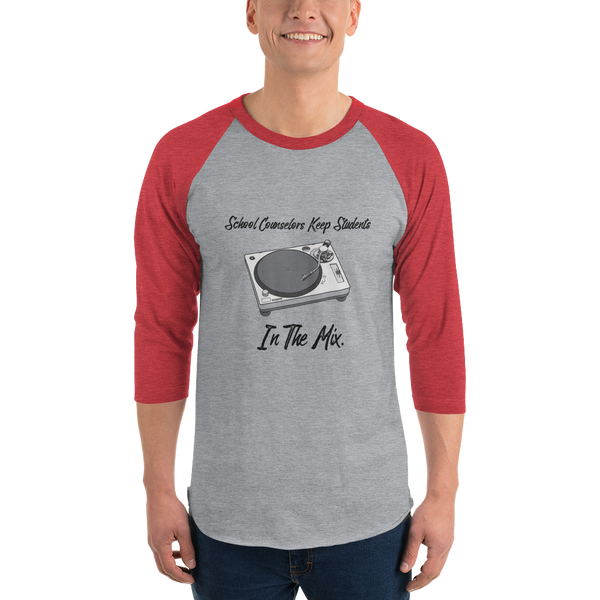 In The Mix Tultex 245 Unisex 3/4 sleeve raglan shirt - The School Counselor Shop  Great gifts and items for school and guidance counselors. School Counseling, Counseling, School Shirts, Counseling Apparel