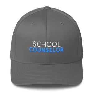School Counselor Flexfit Hat - The School Counselor Shop  Great gifts and items for school and guidance counselors. School Counseling, Counseling, School Shirts, Counseling Apparel