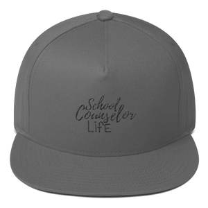 School Counselor Life Flat Bill Cap - The School Counselor Shop  Great gifts and items for school and guidance counselors. School Counseling, Counseling, School Shirts, Counseling Apparel