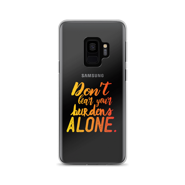 Don't Bear Your Burdens Alone - Samsung Case in Yellow to Orange - The School Counselor Shop  Great gifts and items for school and guidance counselors. School Counseling, Counseling, School Shirts, Counseling Apparel