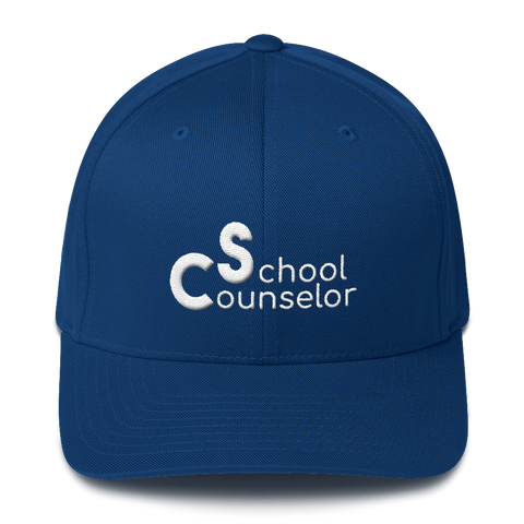 School Counselor Partial 3D Embroidered (Light Text) Structured Twill Cap