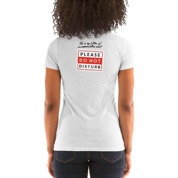 Letter of Rec Ladies' short sleeve t-shirt - The School Counselor Shop  Great gifts and items for school and guidance counselors. School Counseling, Counseling, School Shirts, Counseling Apparel