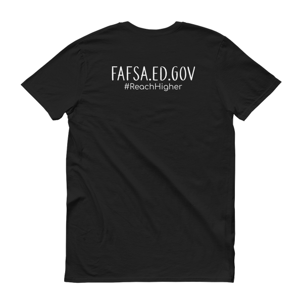 Get That Paper Franklin FAFSA Anvil 980 Short sleeve t-shirt - The School Counselor Shop  Great gifts and items for school and guidance counselors. School Counseling, Counseling, School Shirts, Counseling Apparel
