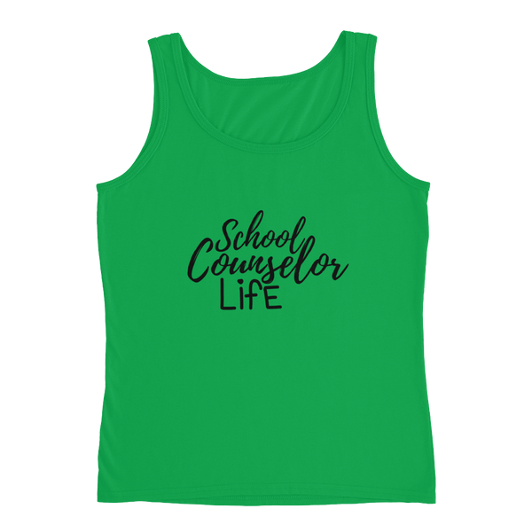 School Counselor Life (Dark Text) Anvil Ladies' Tank - The School Counselor Shop  Great gifts and items for school and guidance counselors. School Counseling, Counseling, School Shirts, Counseling Apparel