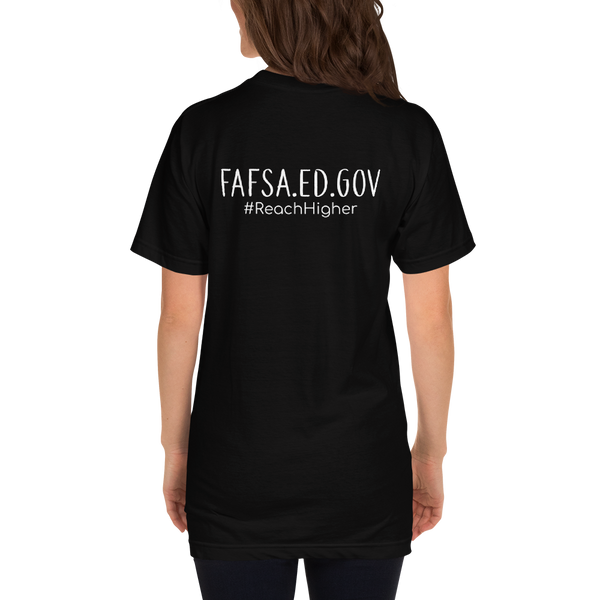 Get That Paper Franklin FAFSA Color Light American Apparel Short sleeve men's t-shirt - The School Counselor Shop  Great gifts and items for school and guidance counselors. School Counseling, Counseling, School Shirts, Counseling Apparel