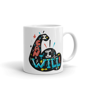 I Can I Will (Dark) Ceramic Mug for School Counselors and Educators - The School Counselor Shop  Great gifts and items for school and guidance counselors. School Counseling, Counseling, School Shirts, Counseling Apparel
