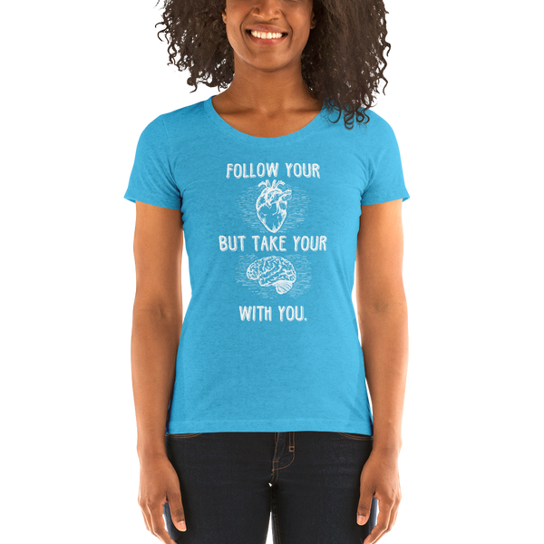 Follow Your Heart B+C 8413 (Light) Ladies' short sleeve t-shirt - The School Counselor Shop  Great gifts and items for school and guidance counselors. School Counseling, Counseling, School Shirts, Counseling Apparel