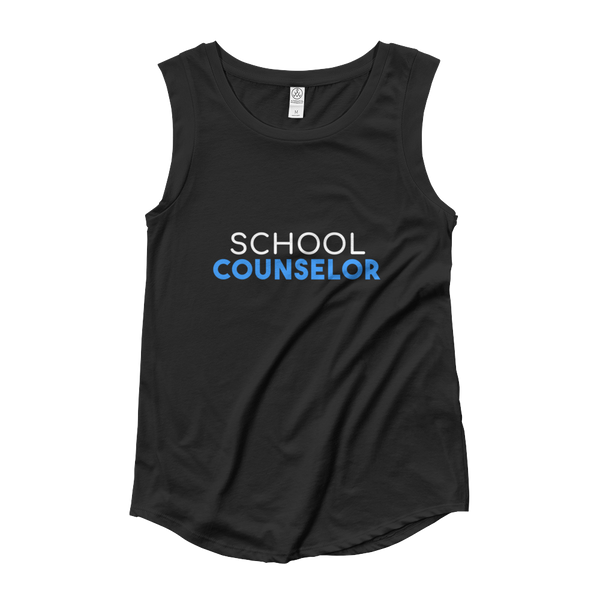 School Counselor Ladies' Cap Sleeve T-Shirt - The School Counselor Shop  Great gifts and items for school and guidance counselors. School Counseling, Counseling, School Shirts, Counseling Apparel