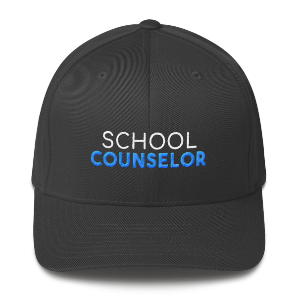 School Counselor - Structured Twill Cap - The School Counselor Shop Hat Great gifts and items for school and guidance counselors. School Counseling, Counseling, School Shirts, Counseling Apparel