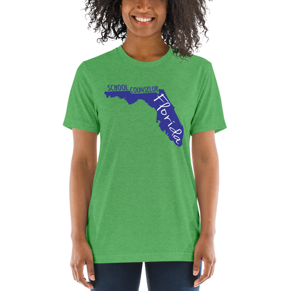 FL School Counselor - B+C Short sleeve t-shirt - The School Counselor Shop  Great gifts and items for school and guidance counselors. School Counseling, Counseling, School Shirts, Counseling Apparel