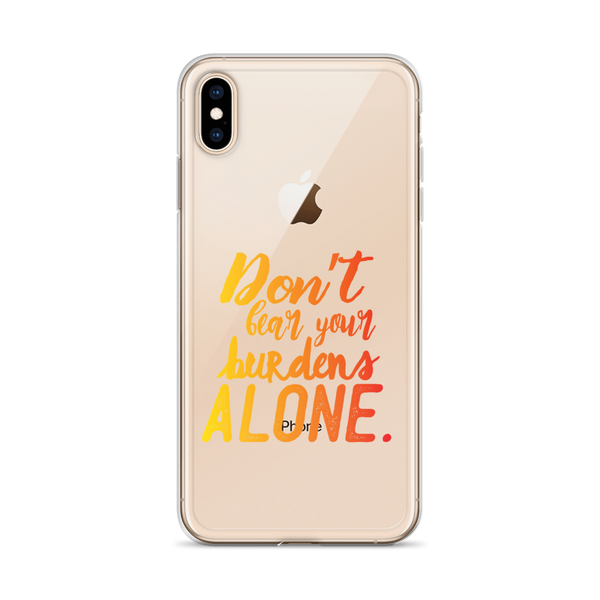 Don't Bear Your Burdens Alone - iPhone Case in Yellow to Orange - The School Counselor Shop  Great gifts and items for school and guidance counselors. School Counseling, Counseling, School Shirts, Counseling Apparel