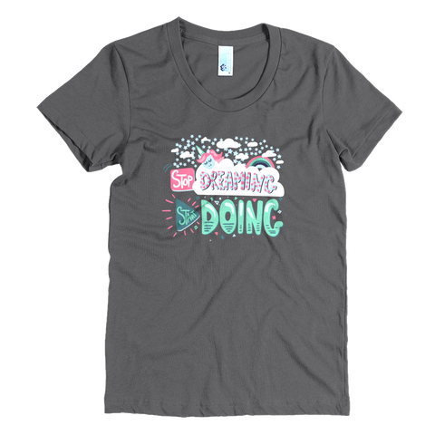 Start Doing - AA Women's Crew Neck Crew Neck Tee - The School Counselor Shop  Great gifts and items for school and guidance counselors. School Counseling, Counseling, School Shirts, Counseling Apparel