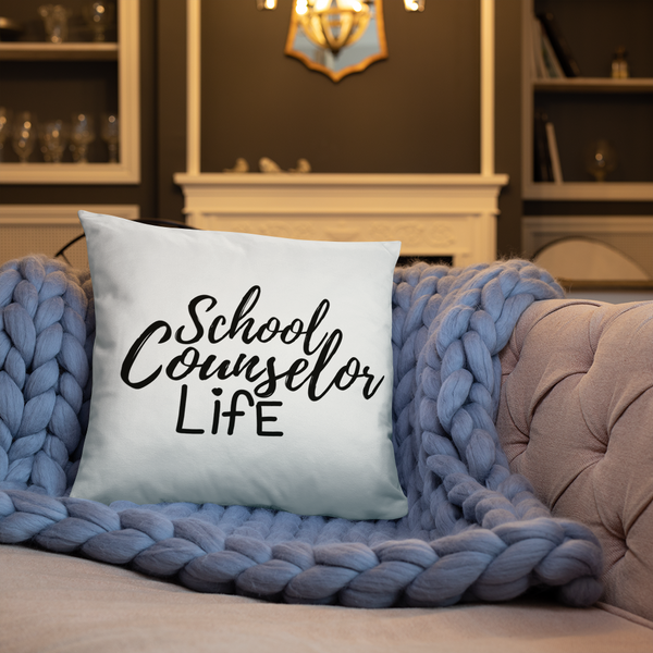 School Counselor Life - Square Pillow - The School Counselor Shop  Great gifts and items for school and guidance counselors. School Counseling, Counseling, School Shirts, Counseling Apparel