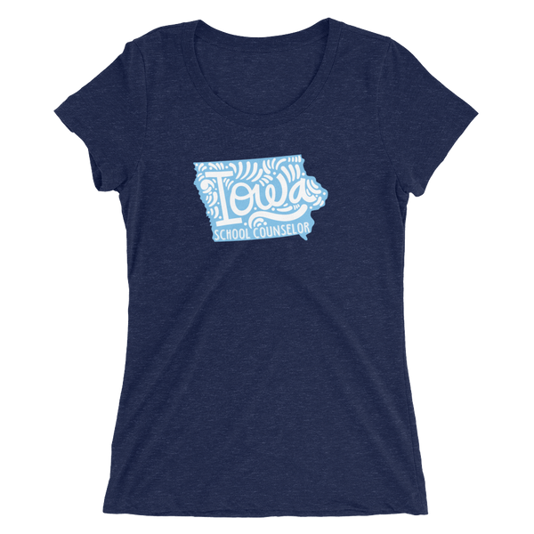 Iowa School Counselor Ladies' short sleeve t-shirt - The School Counselor Shop  Great gifts and items for school and guidance counselors. School Counseling, Counseling, School Shirts, Counseling Apparel