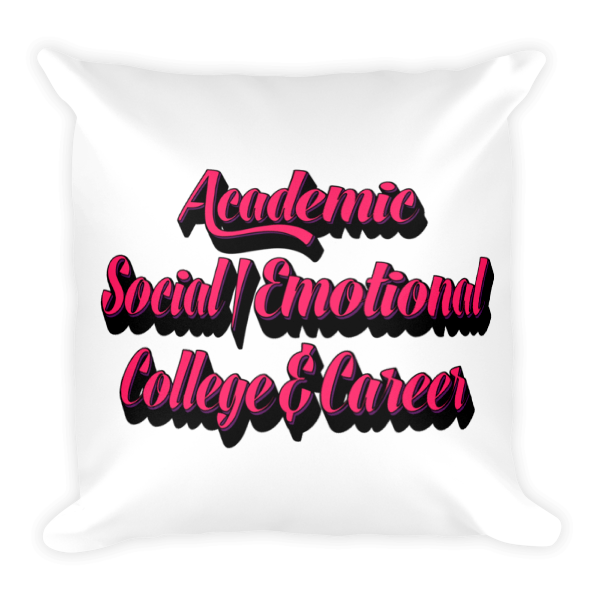 3 Domains - Square Pillow - The School Counselor Shop  Great gifts and items for school and guidance counselors. School Counseling, Counseling, School Shirts, Counseling Apparel