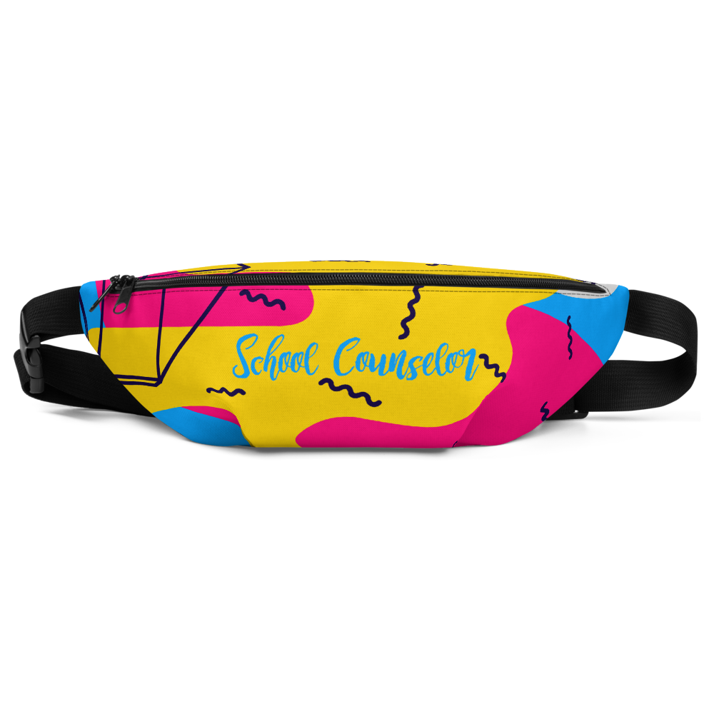 School Counselor | School Counseling | Colorful School Counselor Fanny Pack Radio Holder Show Your Personality PBIS Ticket Card Holder - The School Counselor Shop  Great gifts and items for school and guidance counselors. School Counseling, Counseling, School Shirts, Counseling Apparel