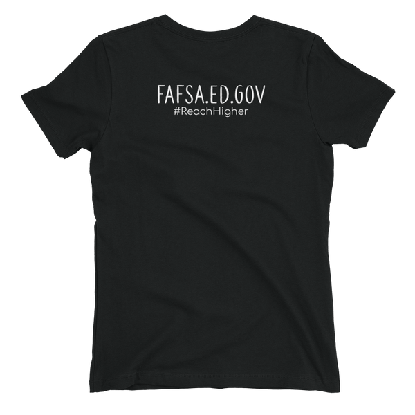 Get That Paper Franklin FAFSA Next Level Lt/Color Women's t-shirt - The School Counselor Shop  Great gifts and items for school and guidance counselors. School Counseling, Counseling, School Shirts, Counseling Apparel