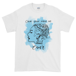 Clear your mind of can't (dark version) - Gildan Ultra Cotton Short sleeve t-shirt - The School Counselor Shop  Great gifts and items for school and guidance counselors. School Counseling, Counseling, School Shirts, Counseling Apparel