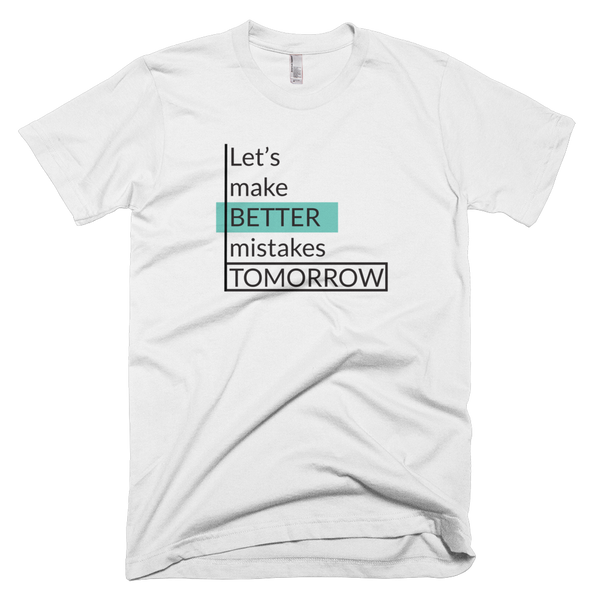 Better Mistakes Tomorrow - AA 2001 T-Shirt - The School Counselor Shop  Great gifts and items for school and guidance counselors. School Counseling, Counseling, School Shirts, Counseling Apparel