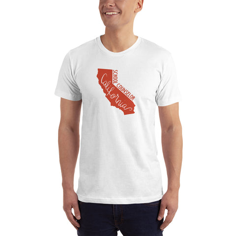 California School Counselor (Red) Unisex T-Shirt - The School Counselor Shop  Great gifts and items for school and guidance counselors. School Counseling, Counseling, School Shirts, Counseling Apparel