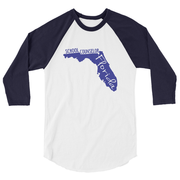 FL School Counselor 3/4 sleeve raglan shirt - The School Counselor Shop  Great gifts and items for school and guidance counselors. School Counseling, Counseling, School Shirts, Counseling Apparel