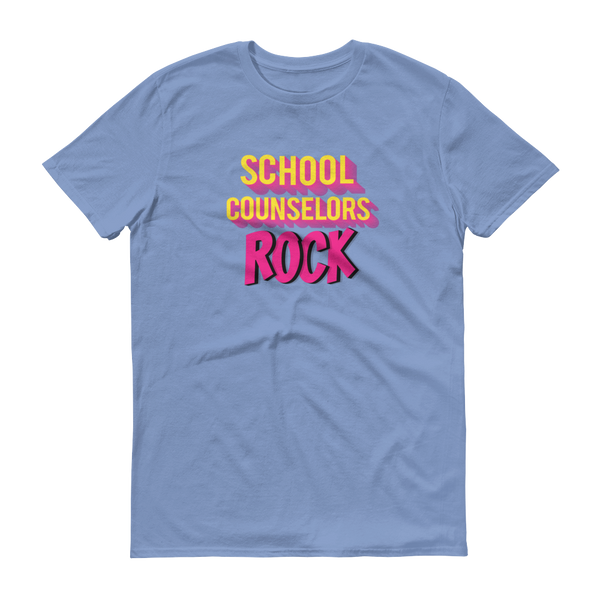 School Counselors Rock Short-Sleeve T-Shirt - The School Counselor Shop  Great gifts and items for school and guidance counselors. School Counseling, Counseling, School Shirts, Counseling Apparel
