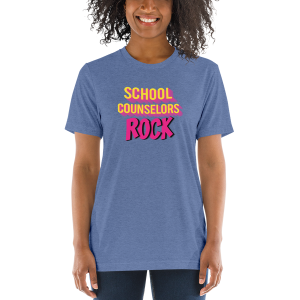 School Counselors Rock B+C 4313 Soft Unisex Short sleeve t-shirt - The School Counselor Shop  Great gifts and items for school and guidance counselors. School Counseling, Counseling, School Shirts, Counseling Apparel
