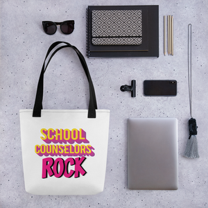 School Counselors Rock Tote bag - The School Counselor Shop  Great gifts and items for school and guidance counselors. School Counseling, Counseling, School Shirts, Counseling Apparel