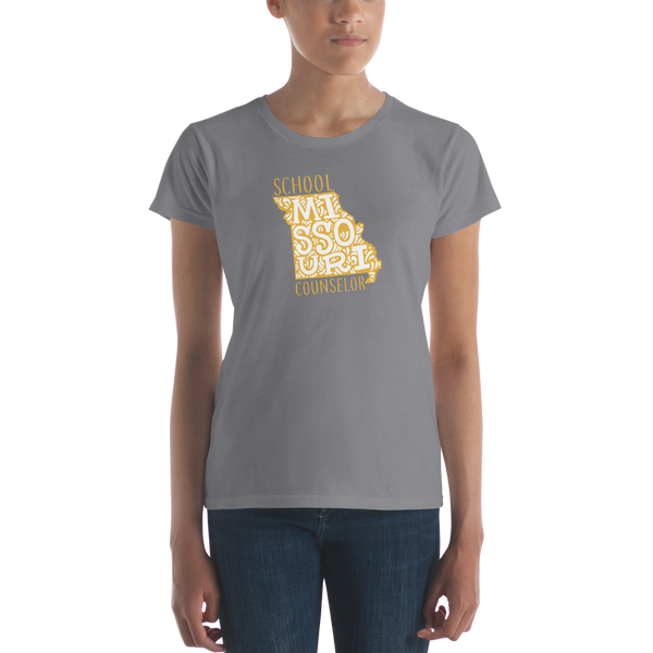MO School Counselor Light Women's short sleeve t-shirt - The School Counselor Shop  Great gifts and items for school and guidance counselors. School Counseling, Counseling, School Shirts, Counseling Apparel