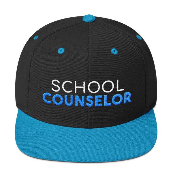 School Counselor Embroidered SnapBack Hat - The School Counselor Shop  Great gifts and items for school and guidance counselors. School Counseling, Counseling, School Shirts, Counseling Apparel