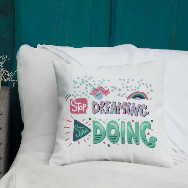 Start Doing - Premium Pillow - The School Counselor Shop  Great gifts and items for school and guidance counselors. School Counseling, Counseling, School Shirts, Counseling Apparel