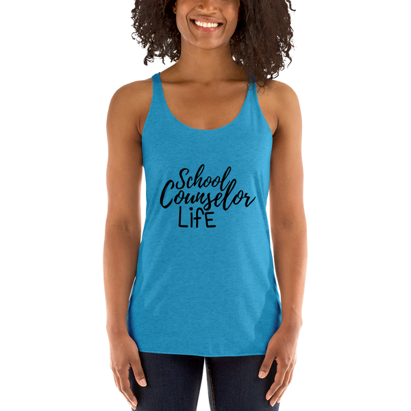 School Counselor Life (Dark Text) Next Level Women's tank top - The School Counselor Shop  Great gifts and items for school and guidance counselors. School Counseling, Counseling, School Shirts, Counseling Apparel