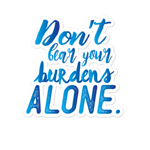 Bare Your Burdens - Bubble-free stickers for school counselors, teachers and admin - The School Counselor Shop  Great gifts and items for school and guidance counselors. School Counseling, Counseling, School Shirts, Counseling Apparel