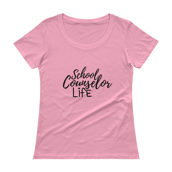 School Counselor Life (Dark Text) Anvil Ladies' Scoopneck T-Shirt - The School Counselor Shop  Great gifts and items for school and guidance counselors. School Counseling, Counseling, School Shirts, Counseling Apparel
