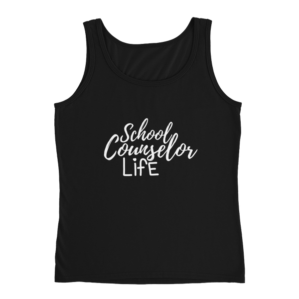 School Counselor Life (Light Text) Anvil Ladies' Tank - The School Counselor Shop  Great gifts and items for school and guidance counselors. School Counseling, Counseling, School Shirts, Counseling Apparel