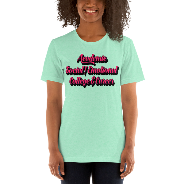 3 Domains - Bella + Canvas Unisex short sleeve t-shirt - The School Counselor Shop T-Shirt Great gifts and items for school and guidance counselors. School Counseling, Counseling, School Shirts, Counseling Apparel