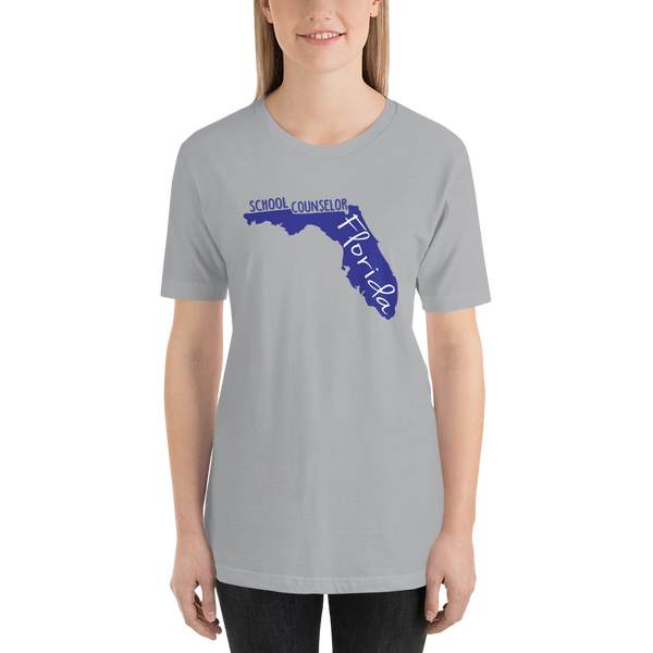 FL School Counselor Short-Sleeve Unisex T-Shirt - The School Counselor Shop  Great gifts and items for school and guidance counselors. School Counseling, Counseling, School Shirts, Counseling Apparel