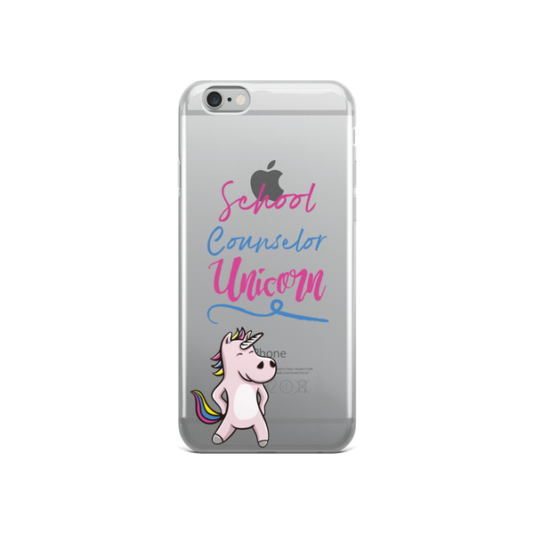 School Counselor Unicorn iPhone Case - The School Counselor Shop  Great gifts and items for school and guidance counselors. School Counseling, Counseling, School Shirts, Counseling Apparel