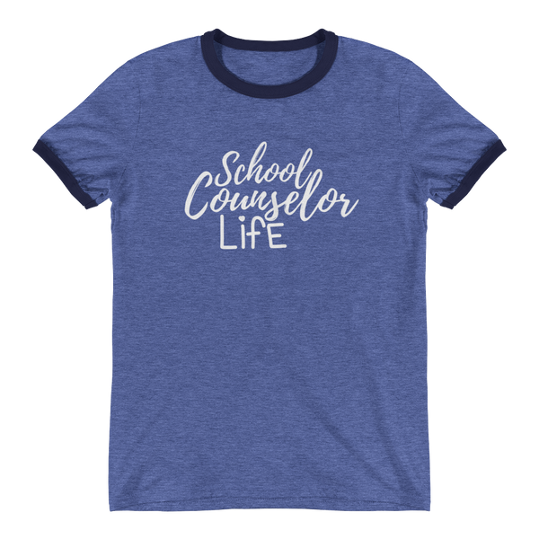 School Counselor Life (Light Text) Anvil Ringer T-Shirt - The School Counselor Shop  Great gifts and items for school and guidance counselors. School Counseling, Counseling, School Shirts, Counseling Apparel