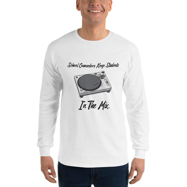 In The Mix Gildan 2400 Long Sleeve T-Shirt - The School Counselor Shop  Great gifts and items for school and guidance counselors. School Counseling, Counseling, School Shirts, Counseling Apparel