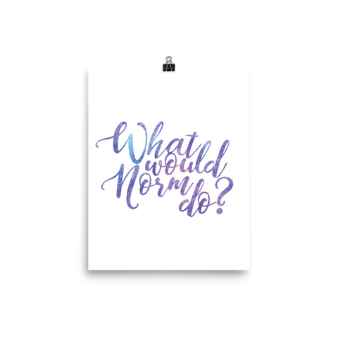 What would Norm do? Poster - The School Counselor Shop