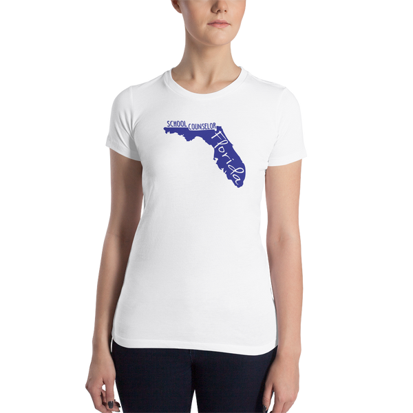 FL School Counselor Women's Slim Fit T-Shirt - The School Counselor Shop  Great gifts and items for school and guidance counselors. School Counseling, Counseling, School Shirts, Counseling Apparel