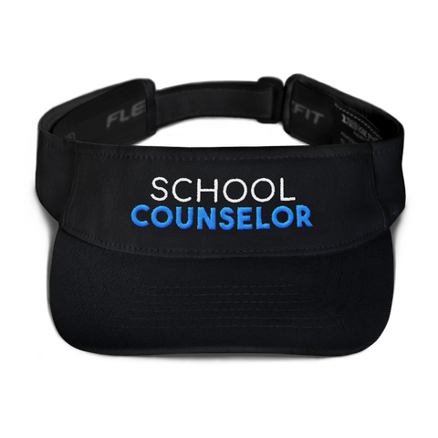 School Counselor Unisex Flexfit 8110 Visor - The School Counselor Shop  Great gifts and items for school and guidance counselors. School Counseling, Counseling, School Shirts, Counseling Apparel