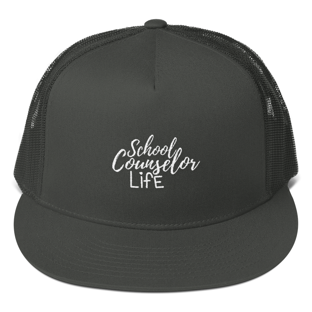 School Counselor Life Mesh Back Snapback - The School Counselor Shop  Great gifts and items for school and guidance counselors. School Counseling, Counseling, School Shirts, Counseling Apparel