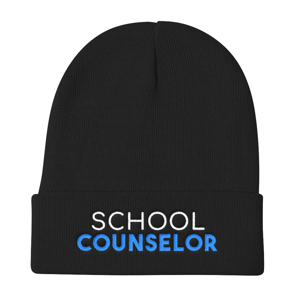 School Counselor Otto Cap Knit Beanie - The School Counselor Shop  Great gifts and items for school and guidance counselors. School Counseling, Counseling, School Shirts, Counseling Apparel