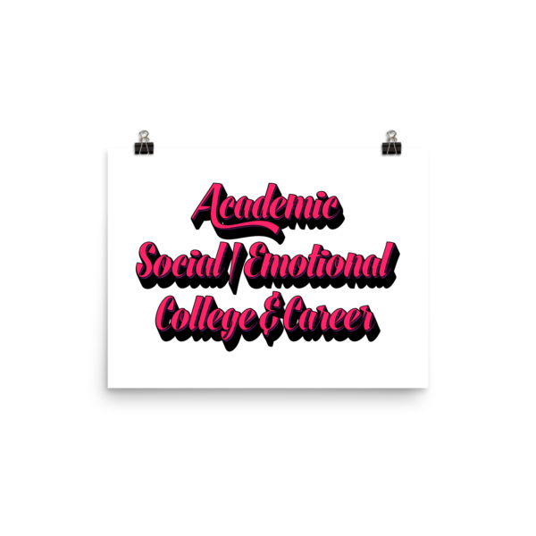 3 Domains - Photo paper poster - The School Counselor Shop  Great gifts and items for school and guidance counselors. School Counseling, Counseling, School Shirts, Counseling Apparel