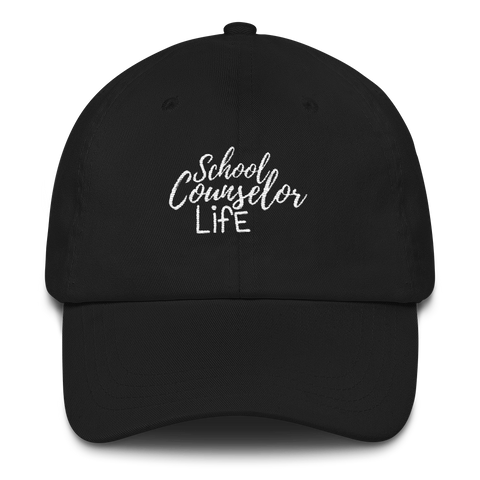 School Counselor Life Classic Dad Cap - The School Counselor Shop  Great gifts and items for school and guidance counselors. School Counseling, Counseling, School Shirts, Counseling Apparel