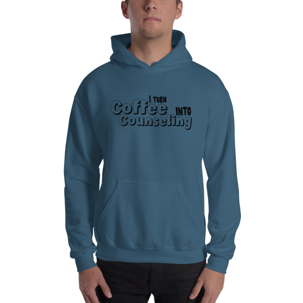 Coffee into Counseling - Unisex Hooded Sweatshirt - The School Counselor Shop  Great gifts and items for school and guidance counselors. School Counseling, Counseling, School Shirts, Counseling Apparel